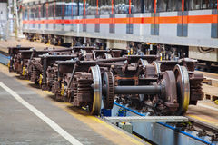 Undercarriages for maintenance of subway wagons Royalty Free Stock Image