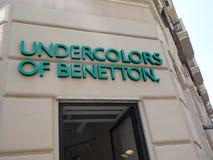 Undercolors av det Benetton lagret arkivfoton