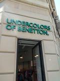 Undercolors av det Benetton lagret arkivbild