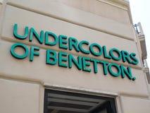 Undercolors av det Benetton lagret royaltyfri bild