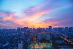 Underconstructing-Gebäude in Guangzh Lizenzfreie Stockfotografie