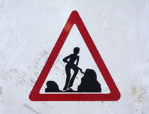 Underconstruction road sign Royalty Free Stock Photos