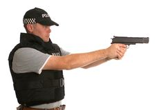 Undercover armed Police Royalty Free Stock Images