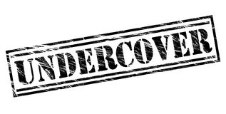 Undercover black stamp Royalty Free Stock Photography