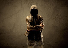 Undercover hooded stranger in the dark Royalty Free Stock Photography