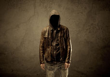 Undercover hooded stranger in the dark Royalty Free Stock Photos