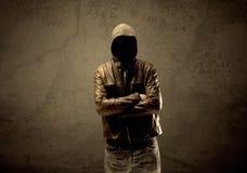 Undercover hooded stranger in the dark Stock Photography
