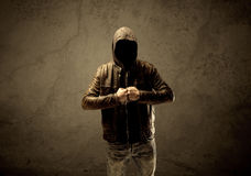 Undercover hooded stranger in the dark Royalty Free Stock Image