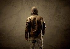 Undercover hooded stranger in the dark Royalty Free Stock Photo