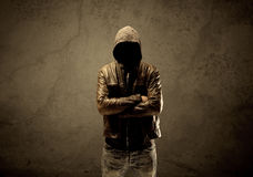Undercover hooded stranger in the dark Royalty Free Stock Image