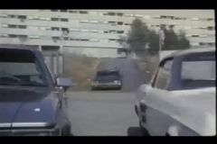 Undercover police driving into parking lot during stakeout stock video footage