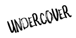 Undercover rubber stamp Stock Image