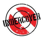 Undercover rubber stamp Royalty Free Stock Images