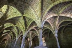 Undercroft de la abadía de la batalla en Sussex del este Foto de archivo libre de regalías