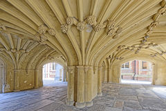 The Undercroft of Lincoln's Inn Chapel Stock Photos