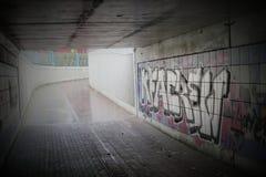 Undercrossing With Graffiti Stock Photo