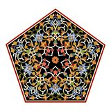 Abstract oriental mosaic decorative colorful World Ornaments graphic stock illustration