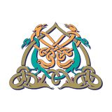 Russian celtic Oriental ornament - Illustration designs royalty free illustration