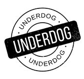 Underdog rubber stamp Stock Photos