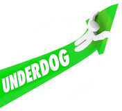 Underdog Word 3d Arrow Man Unexpected Winner Competition Royalty Free Stock Image