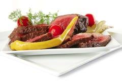 Underdone beef Stock Photo