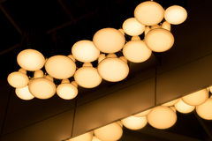 The underexposed of lamp lighting, lighting lamp on the ceiling Royalty Free Stock Photo