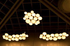 The underexposed of lamp lighting, lighting lamp on the ceiling Royalty Free Stock Images