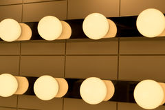 The underexposed of lamp lighting, lighting lamp on the ceiling Royalty Free Stock Photography