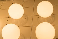 The underexposed of lamp lighting, lighting lamp on the ceiling Royalty Free Stock Image