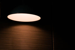 The underexposed of lamp lighting, lighting reflecting to emphasize somethings Royalty Free Stock Images