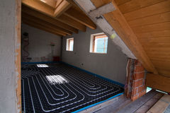 Underfloor heating Royalty Free Stock Images