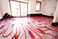 Underfloor heating Stock Photography