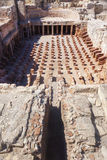 Underfloor heating and columns of bricks Royalty Free Stock Images