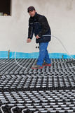 Underfloor heating and cooling Stock Images