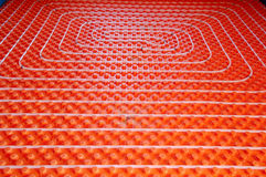 Underfloor heating Royalty Free Stock Photo