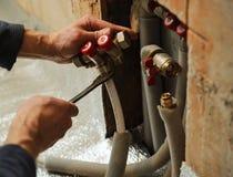 Underfloor heating Royalty Free Stock Image