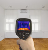 Underfloor Heating Measurement Royalty Free Stock Images