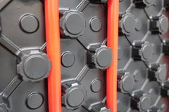 Underfloor heating system stock image