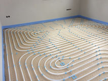 Underfloor heating system royalty free stock images