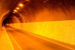 Undergound Dark Tunnel Royalty Free Stock Photos