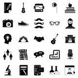 Undergraduate icons set, simple style Stock Photos