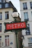 Undergrand en París (Francia) en mayo de 2014 Fotos de archivo libres de regalías