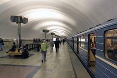 The undergraound station Timirevskaya. Ndergraound station Timirevskaya in Moscow Stock Photography