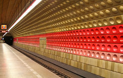 Underground. Station at Prague, Czech Stock Image