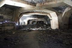 Underground. Richard Hall underground factories in Litomerice Royalty Free Stock Images
