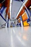 Underground. Interior of a modern looking underground train stock photography