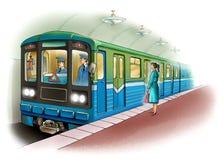 Underground stock illustration