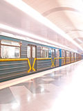 Underground. Railway in Ukraine, Kiev Stock Photos