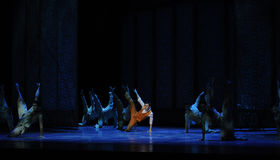 The underground armed forces-The third act of dance drama-Shawan events of the past Stock Image
