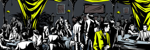 Underground bar Prohibition Royalty Free Stock Images
